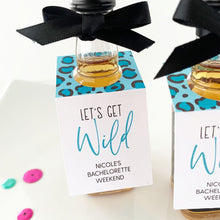 Load image into Gallery viewer, Lets Get Wild Bachelorette Party Mini Bottle Tags