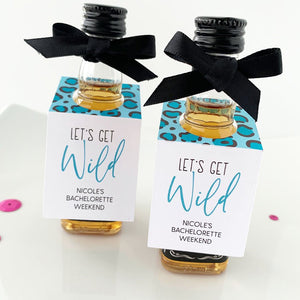 Lets Get Wild Bachelorette Party Mini Bottle Tags