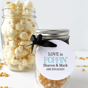 Our Love is Poppin Engagement Party Favor Tags