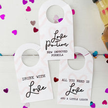 Load image into Gallery viewer, Valentines Day Party Mini Liquor Tags