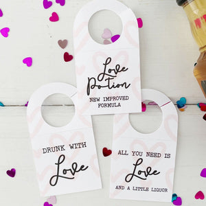 Valentines Day Party Mini Liquor Tags