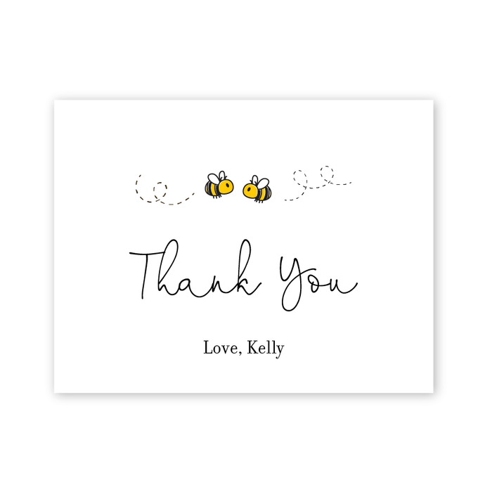 Meant To Bee Bridal Shower Thank You Cards