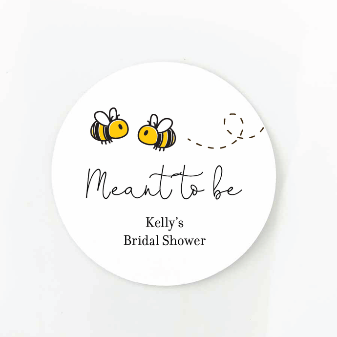 Meant To Bee Bridal Shower Favor Labels