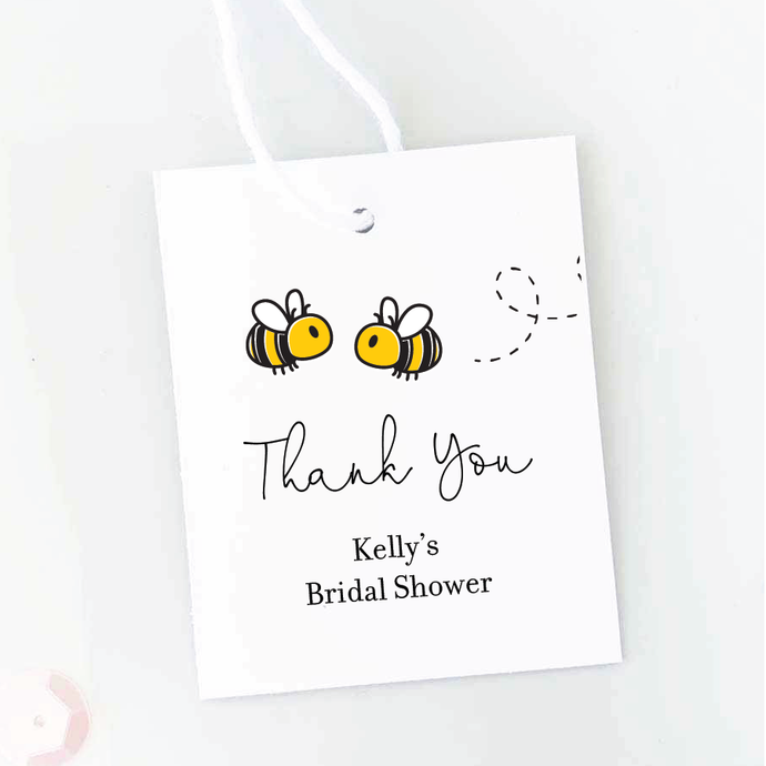 Meant To Bee Bridal Shower Favor Tags