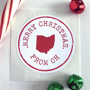 Merry Christmas State Pride Holiday Gift Sticker