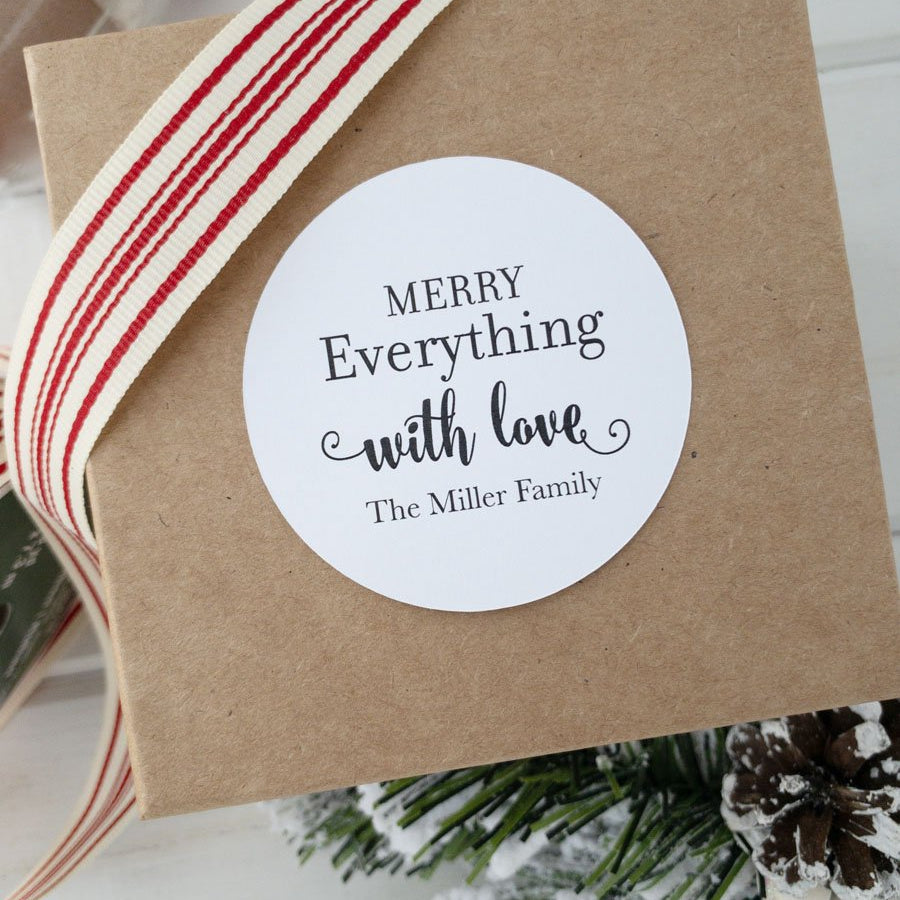 Merry Everything Christmas Gift Label