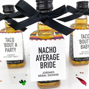 Taco Bout A Baby Sombrero Mini Bottle Tags