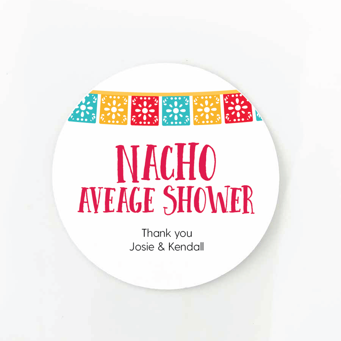 nacho you average party labels