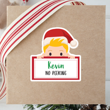 Load image into Gallery viewer, No Peeking Gift Wrapping Stickers Blond Hair