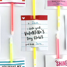 Load image into Gallery viewer, Glow Stick Valentine Card