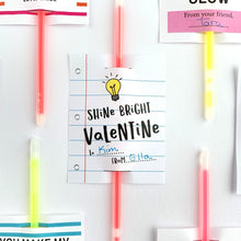 Load image into Gallery viewer, Shine Bright Glow Stick Valentine