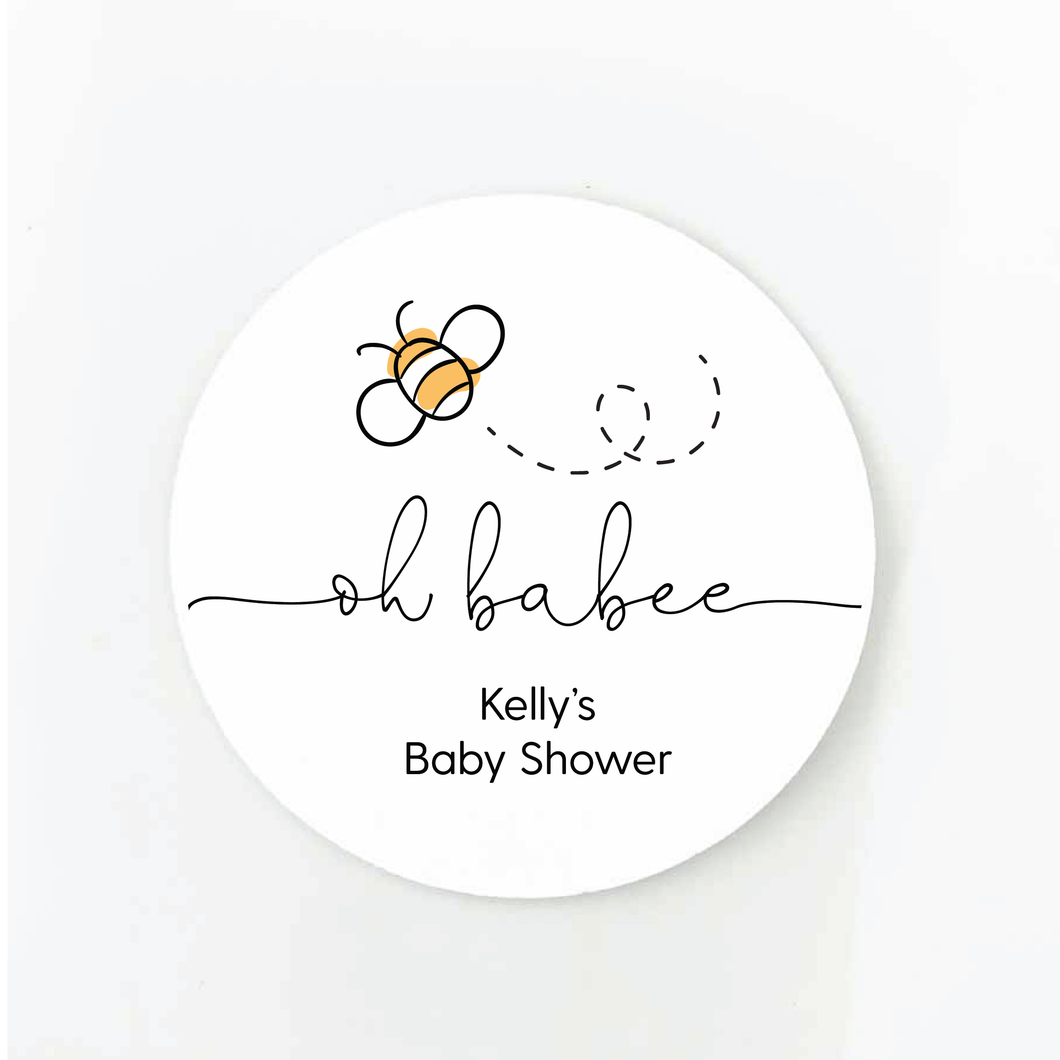 oh babee baby shower favor labels