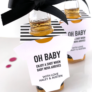 oh baby mini onesie bottle tags
