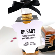 Load image into Gallery viewer, oh baby onesie bottle tags