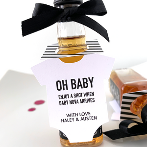 oh baby onesie bottle tags