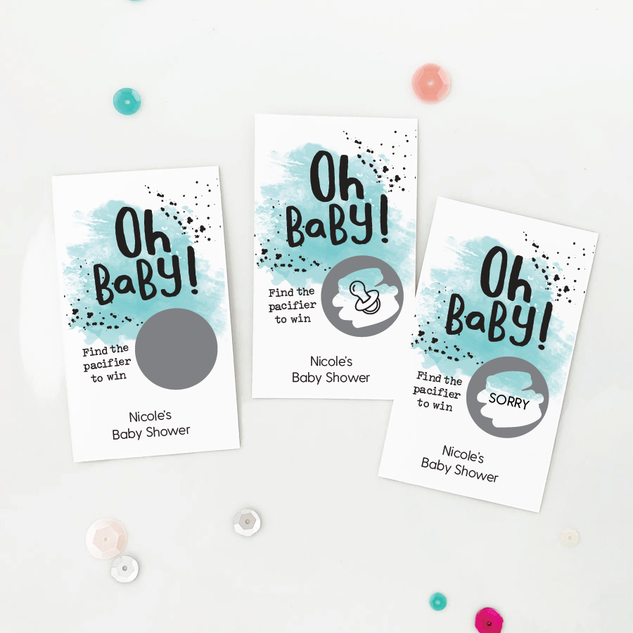 Baby Shower Diaper Raffle Cards Game