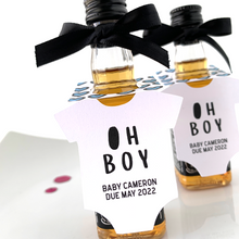 Load image into Gallery viewer, oh boy baby shower favor tags
