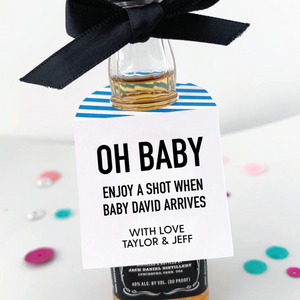 Oh Baby Enjoy A Shot Baby Shower Favors