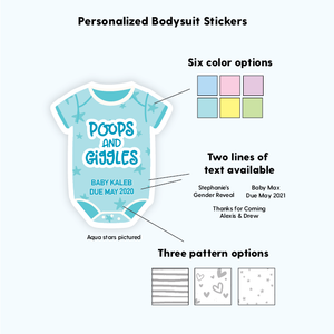 Funny Baby Shower Favor Labels Envelope Seals