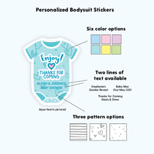 Load image into Gallery viewer, Thank You Personalized Baby Shower Stickers