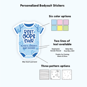 Funny Baby Shower Favor Labels Stickers