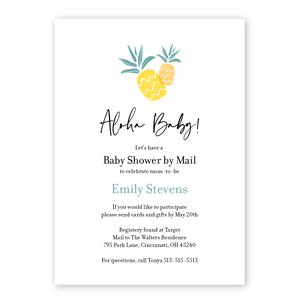 Aloha Baby Pineapple Baby Shower By Mail Invitation