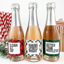 Load image into Gallery viewer, Sleigh All Day Mini Champagne Labels