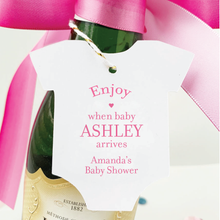 Load image into Gallery viewer, Enjoy Baby Shower Champagne Favor Tags