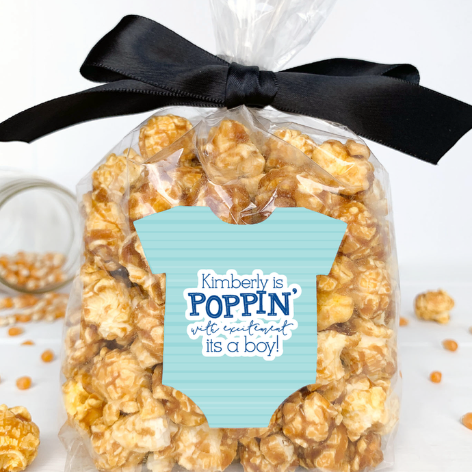 Baby Shower Popcorn Labels It's a Boy