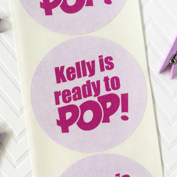Personalized Ready To Pop Baby Shower Labels