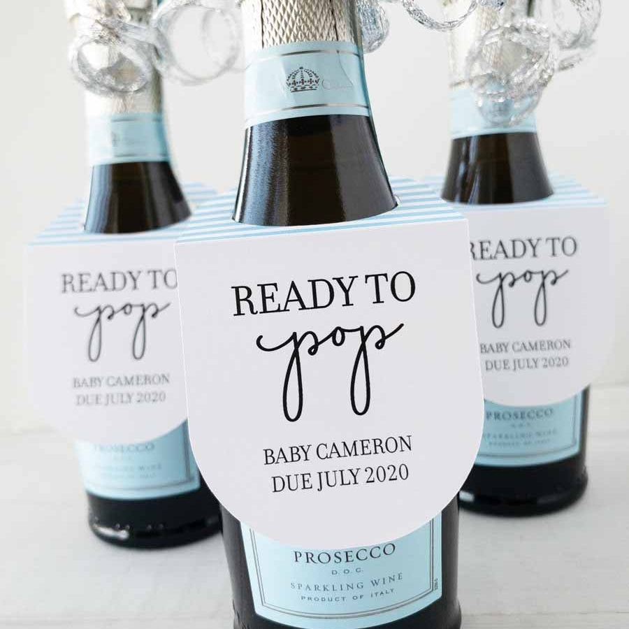 Ready to Pop Mini Champagne Bottle Tags
