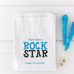 Party Like A Rock Star Birthday Favor Bag