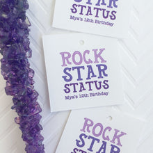 Load image into Gallery viewer, Rock Star Status Rock Candy Favor Tag, Rock Climbing Party Favor Tags