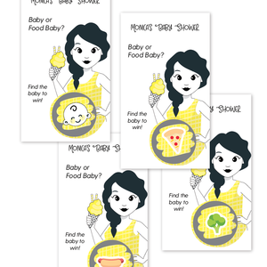 Baby Bump Scratch Off Baby Shower Game