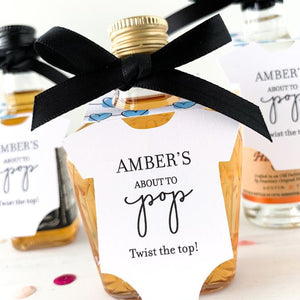 baby shower mini bottle tags