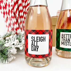 Sleigh All Day Mini Champagne Labels