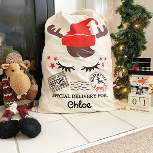 Personalized Santa Sacks Reindeer Express