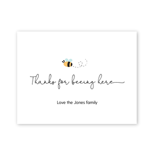 Sweet As Can Bee Baby Shower Thank You Card