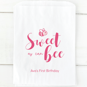 Sweet as Can Bee Birthday Party Favor Bags