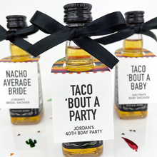 Load image into Gallery viewer, Taco Bout A Baby Sombrero Mini Bottle Tags
