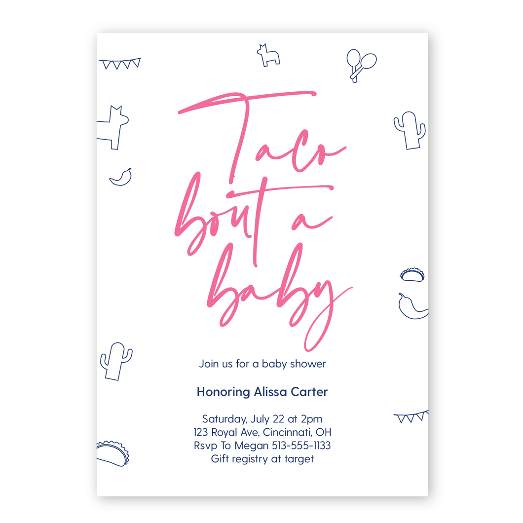 Taco Bout A Baby Baby Shower Invitation