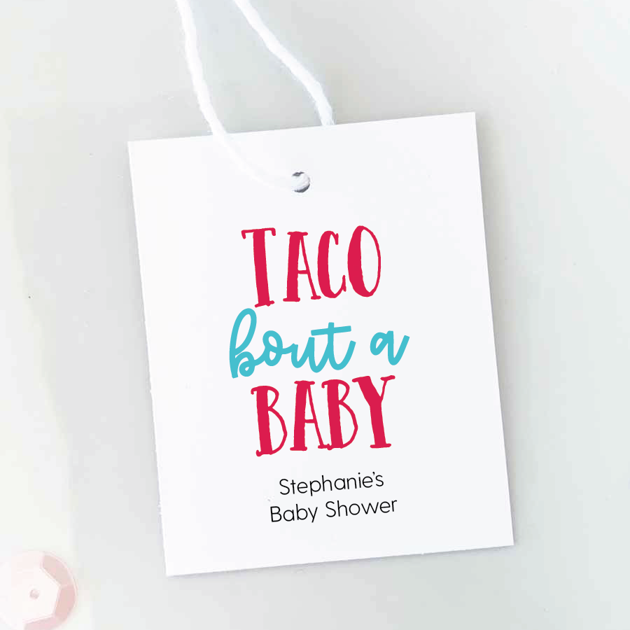 Taco Bout A Baby Baby Shower Favor Tags