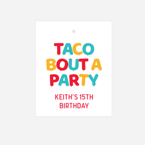 Taco Bout A Party Birthday Favor Tags