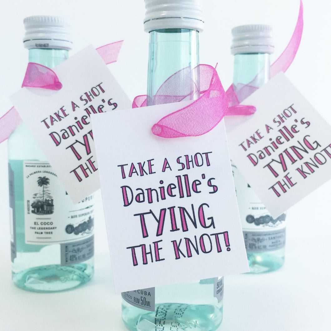 Tying The Knot Favor Tag Bachelorette Party Favors