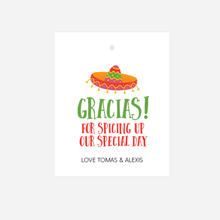 Load image into Gallery viewer, Gracias For Spicing Up Our Special Day Tags