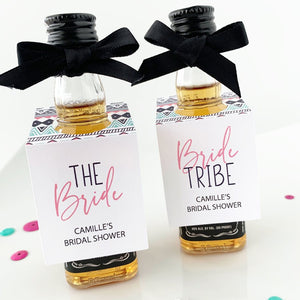 Bride Tribe Bridal Shower mini bottle tags