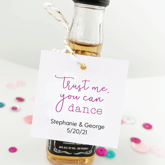 Trust Me You Can Dance Wedding Guest Favor Tags