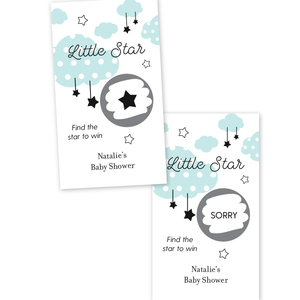 Twinkle Twinkle Little Star Baby Shower Scratch Off Game