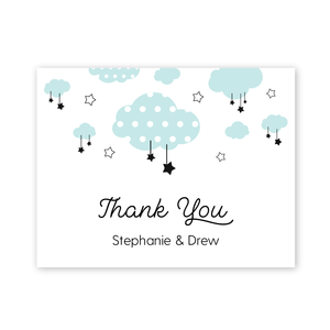 Twinkle Twinkle Little Star Baby Shower Thank You Card