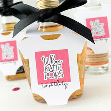Load image into Gallery viewer, baby shower favor tags, mini bottle tags